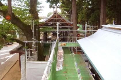 次年度の完成を目指して工事中 総門と両袖塀
