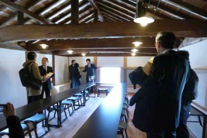 2階は山廬文化振興会主催の句会の会場などに使う予定
