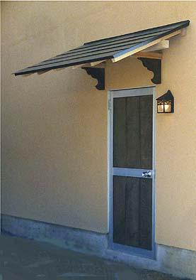 完成した西側ドアの景観