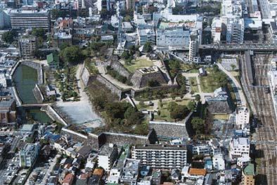 舞鶴城(甲府城)の鳥瞰図