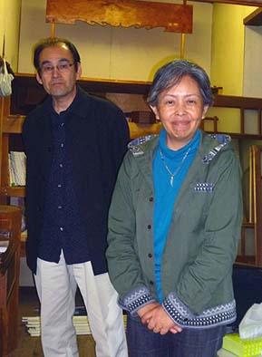 オーガニックシアター主宰で俳優兼演出家の青沼神対馬さんと、レイチェル・カーソン物語作者で演出家のナガノユキノさん