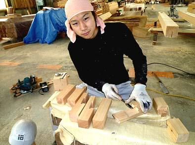 継ぎ手模型を製作したのは大工育成塾の松永充広くんです