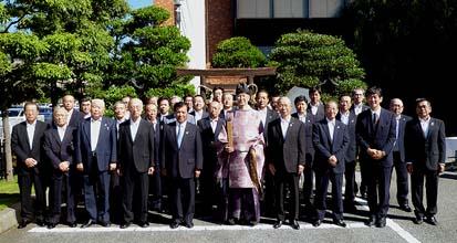 山梨の中核・JA会館にある農協神社の竣工式、多数の関係者が臨席しました