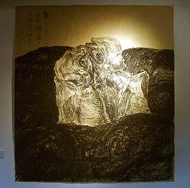 画家 重野克明氏の作品・・・アジの干物が見えますか?