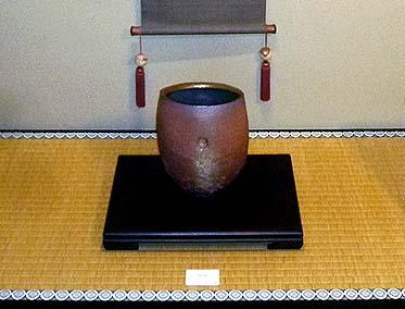 陶芸家 マシュ―・アリソン氏の作品 一階座敷の床の間に飾られました