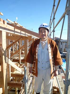 軸組を設計し、塾生を指導された松永棟梁