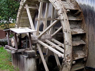 腐朽が進んだ水輪の様子