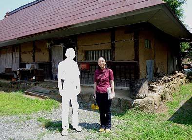 塚田家住宅を見学したT氏ご夫妻  2010年6月14日