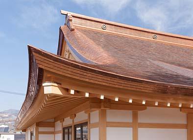 屋根(蓑甲と隅軒のてり)