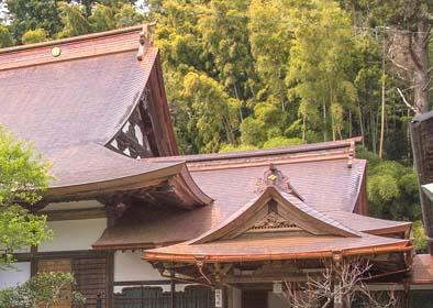玄間と本堂の屋根の重なりが大変美しい。