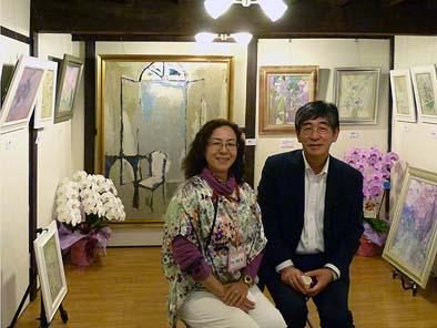 須藤千鶴さんと社長。