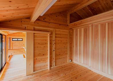 二階にはロフト空間を利用した子供室を2部屋