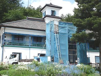 工事中の津金校舎