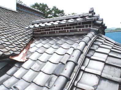 完了した屋根工事の様子
