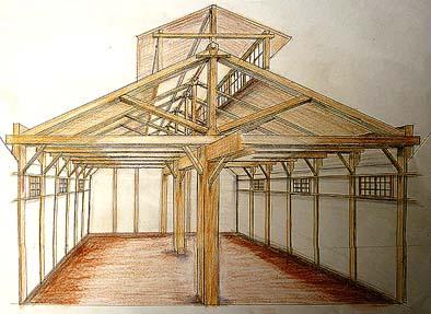 建立当初の醸造所 内観パース