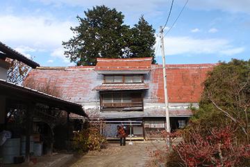 元建っていた上萩原の家の正面外観