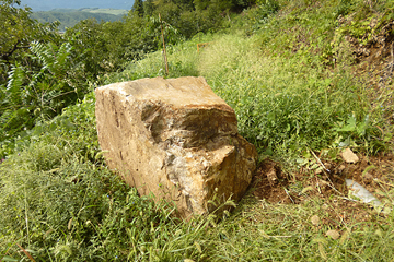 実は10日ほど前に山から大きな岩が落ちてきました…驚き!