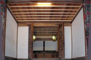 開山堂改修工事完了(仏殿内から見る)