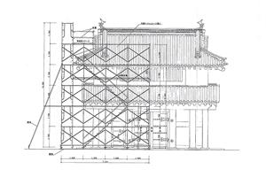 山門と仮設計画図