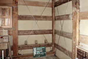 二階部分の耐震補強工事 コボット金物を施工