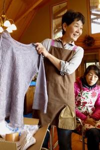 講師の後藤紀子さん(野の学校メンバー) 「さをり織り あとりえ510」を主宰