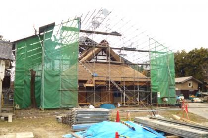 高室家住宅工事現場の様子