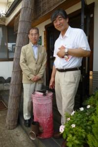 製作者は社長の友人、広瀬さん(左)